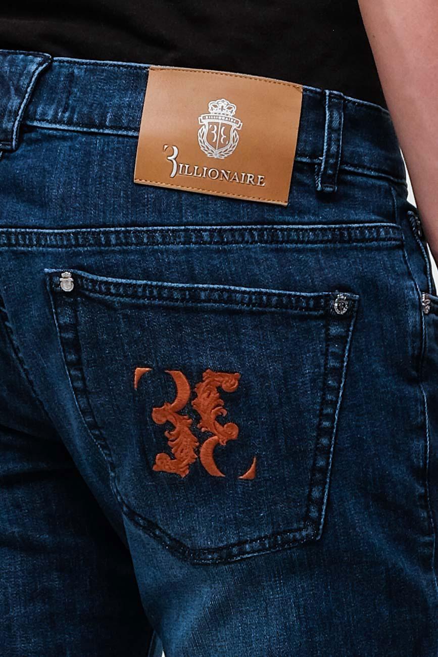 Джинсы Billionaire с вышивкой на кармане