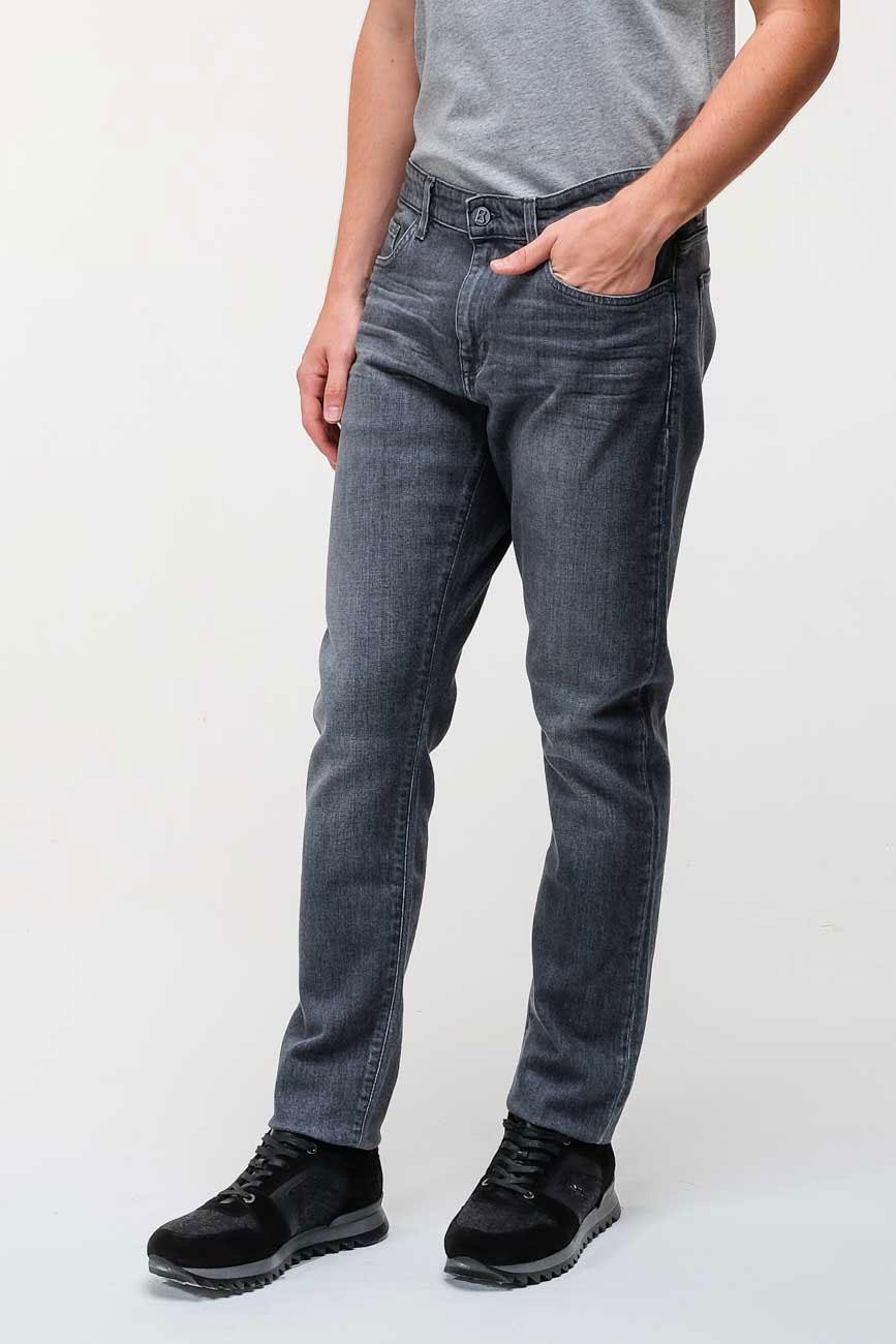 Серые зауженные джинсы Bogner