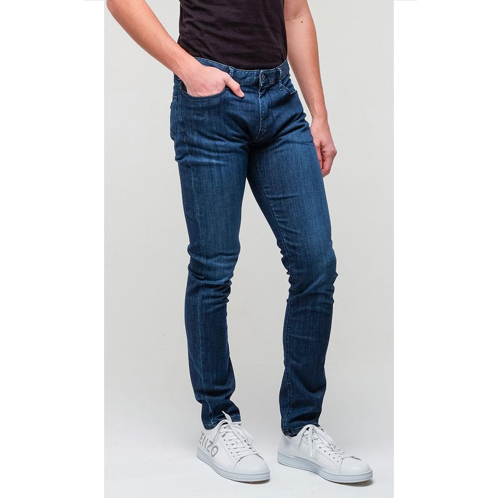 Мужские джинсы Emporio Armani синего цвета