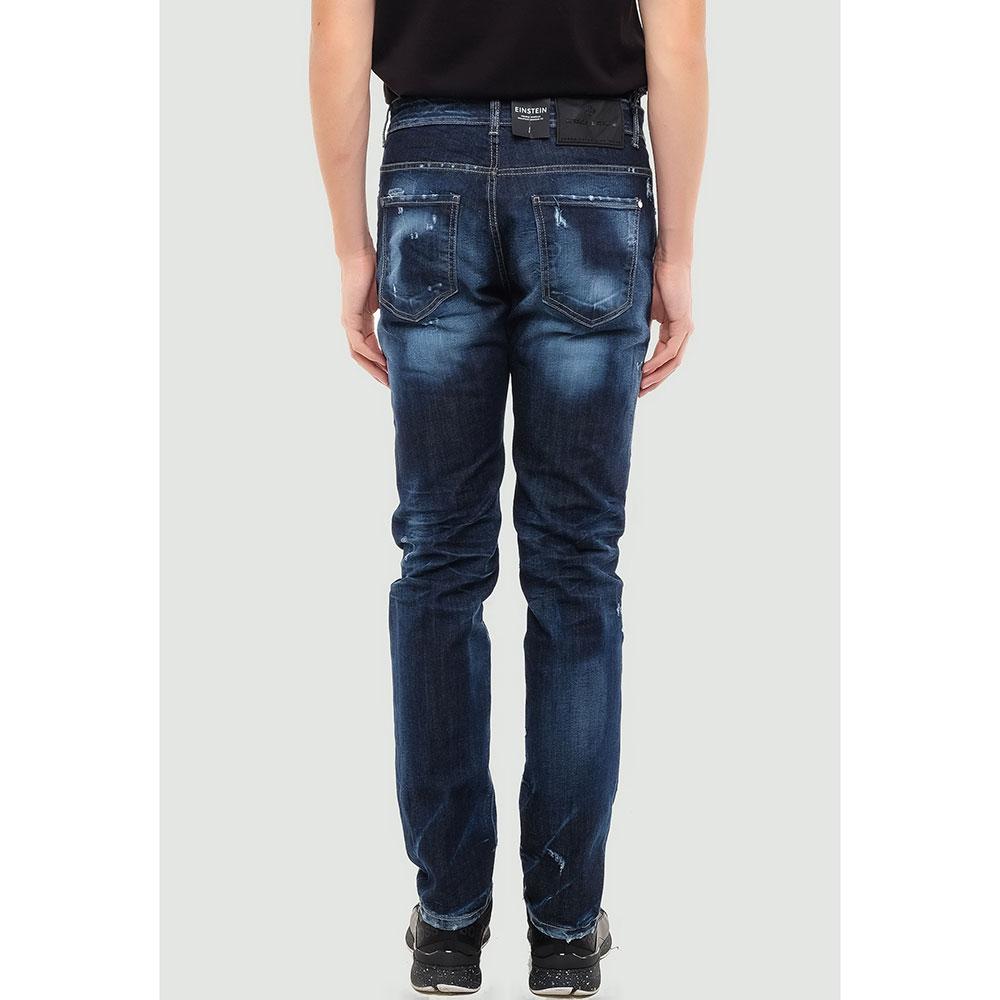 Рваные джинсы Frankie Morello синего цвета