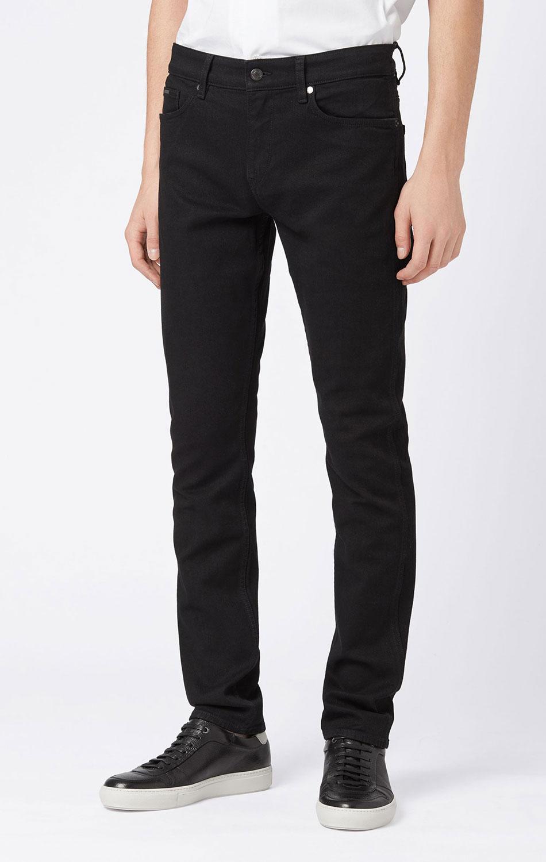 Зауженные джинсы Hugo Boss черного цвета