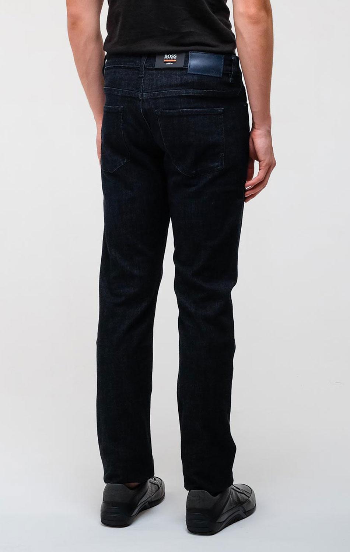 Зауженные джинсы Hugo Boss темно-синего цвета