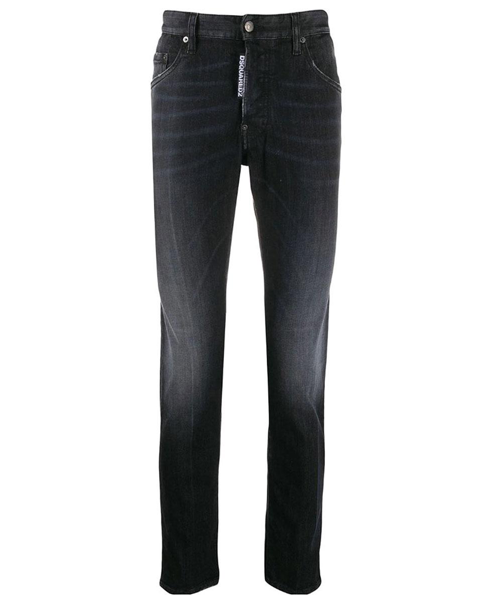 Черные джинсы Dsquared2 с потертостями