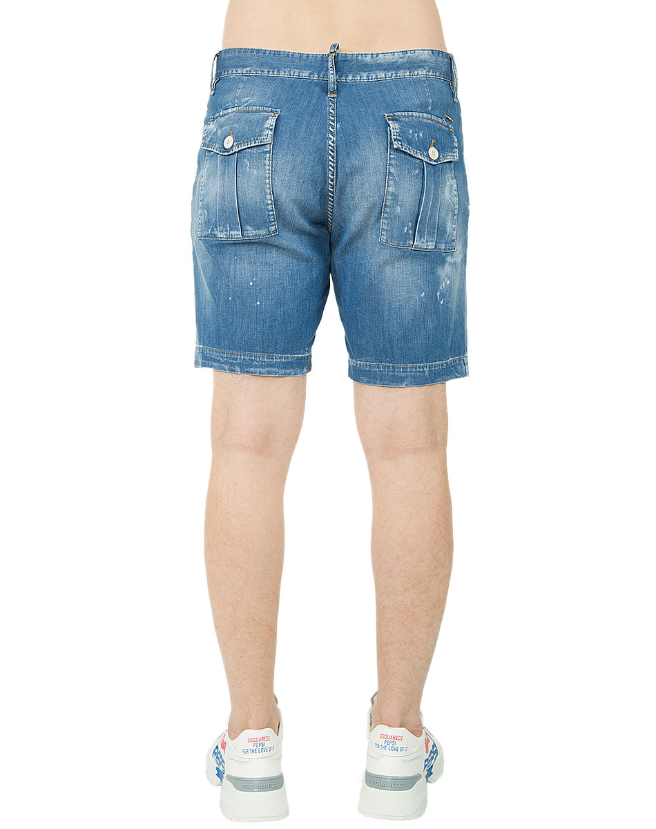 Джинсовые шорты Dsquared2 синего цвета