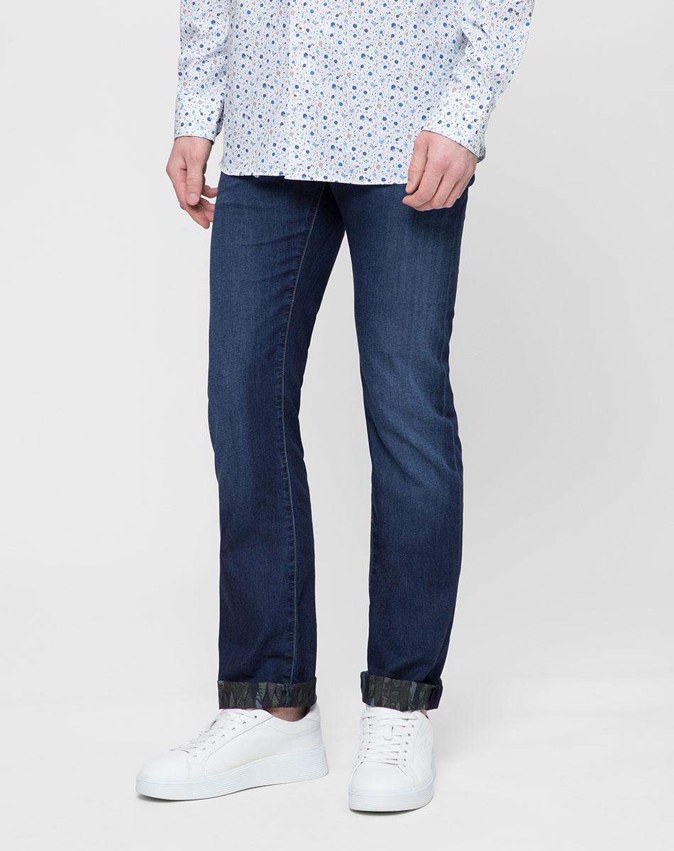 Синие джинсы Jacob Cohen с потертостями