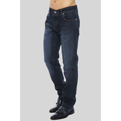 Темно-синие джинсы Billionaire с потертостями, фото