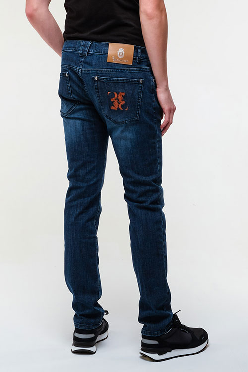 Джинсы Billionaire с вышивкой на кармане, фото