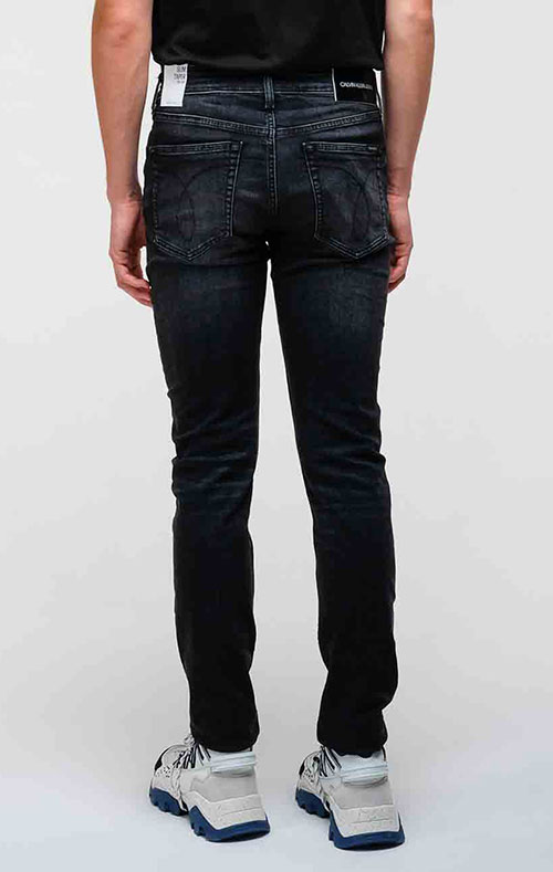 Джинсы-скинни Calvin Klein черного цвета, фото
