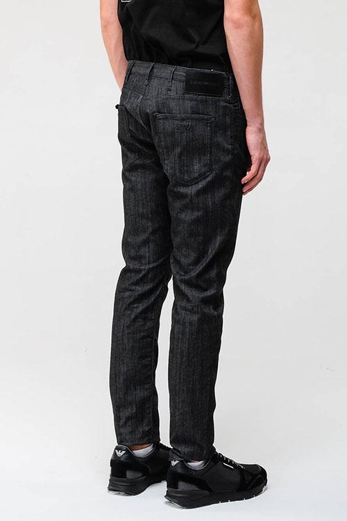 Зауженные джинсы Emporio Armani черного цвета, фото