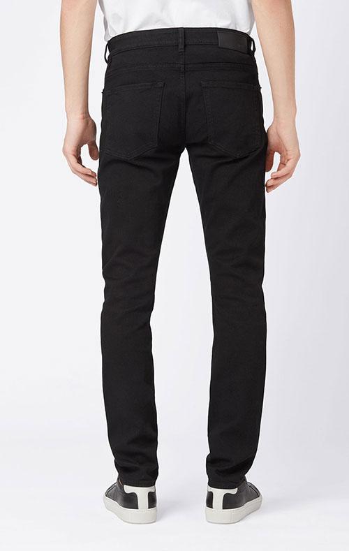 Зауженные джинсы Hugo Boss черного цвета, фото