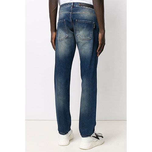 Синие джинсы Philipp Plein прямого кроя, фото