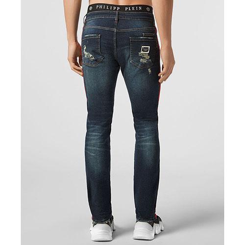 Синие джинсы Philipp Plein с лампасами, фото