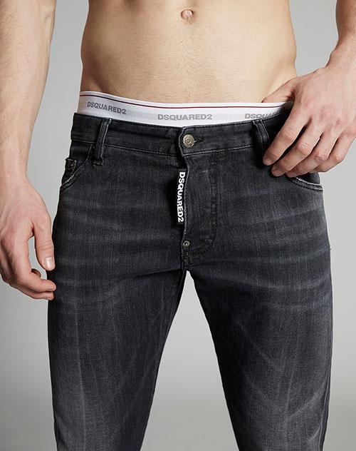 Черные джинсы Dsquared2 с потертостями, фото