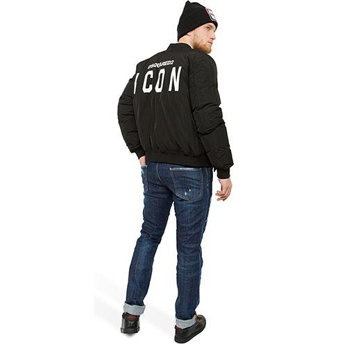 Синие джинсы Dsquared2 Cool Guy Jean с потертостями, фото