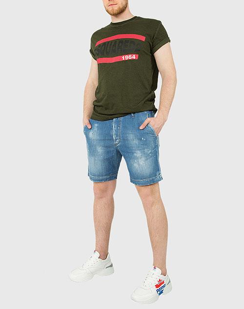 Джинсовые шорты Dsquared2 синего цвета, фото