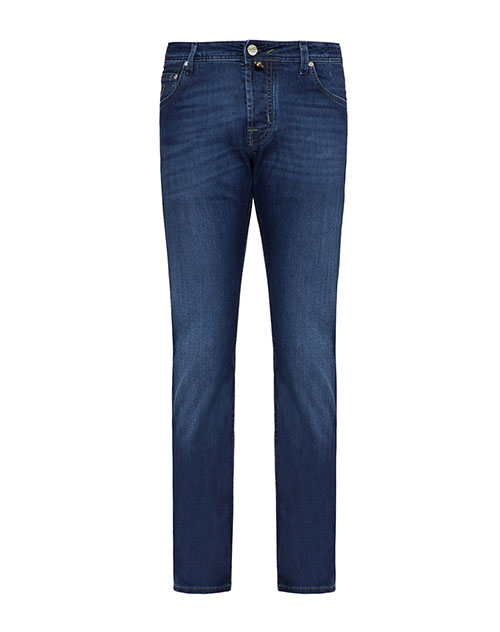 Синие джинсы Jacob Cohen с потертостями, фото
