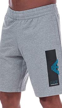 Мужские шорты Ea7 Emporio Armani серого цвета, фото