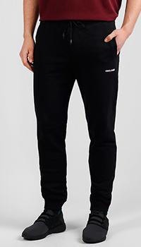 Черные спортивные брюки Roberto Cavalli из хлопка, фото