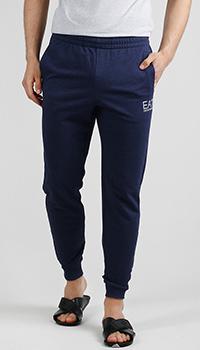 Спортивные брюки Ea7 Emporio Armani синего цвета, фото