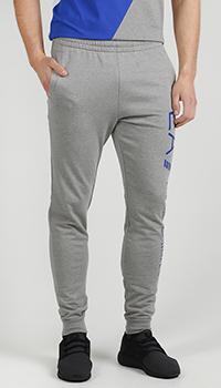 Спортивные брюки Ea7 Emporio Armani серого цвета, фото
