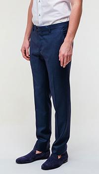 Классические брюки Billionaire синего цвета, фото