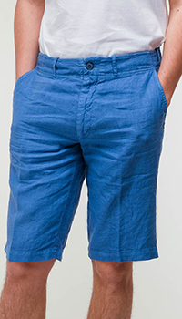 Синие шорты Billionaire из льна, фото