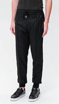 Черные брюки Billionaire с манжетами, фото