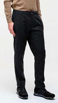 Черные брюки Bogner из шерсти, фото