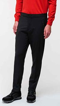 Черные брюки Bogner с замками на карманах, фото