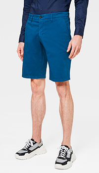 Синие шорты Bogner с логотипом на поясе, фото