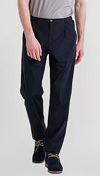 Синие брюки Emporio Armani прямого кроя, фото
