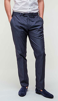 Классические брюки Emporio Armani в синем цвете, фото