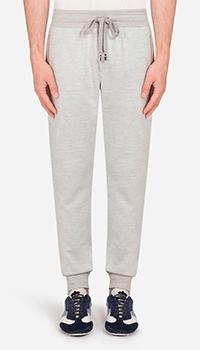 Спортивные брюки Dolce&Gabbana серого цвета, фото