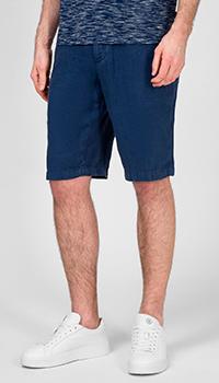 Льняные шорты Hugo Boss синего цвета, фото