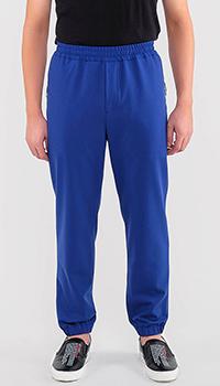 Синие спотривные брюки Kenzo с манжетами, фото