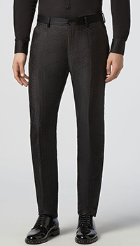 Темно-серые брюки Philipp Plein cо стрелками, фото