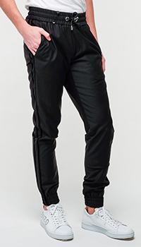 Брюки Philipp Plein с широкой резинкой черного цвета, фото