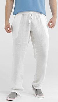 Льняные брюки Van Laack белого цвета, фото