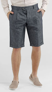 Льняные шорты Capobianco черного цвета, фото