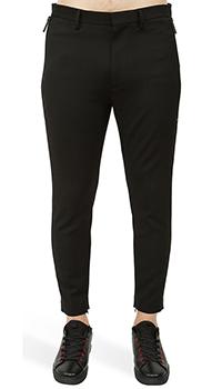 Укороченные брюки Dsquared2 с молниями на штанинах, фото