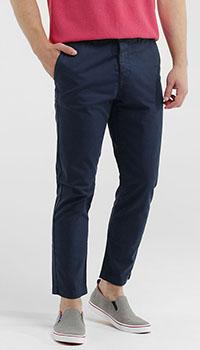 Укороченные брюки Eleventy синего цвета, фото