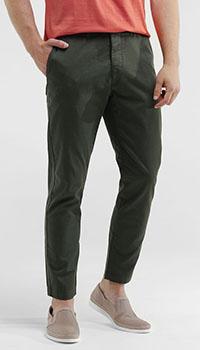 Зеленые брюки Eleventy с косыми карманами, фото
