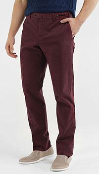 Бордовые брюки Pantaloni Torino со стрелками, фото