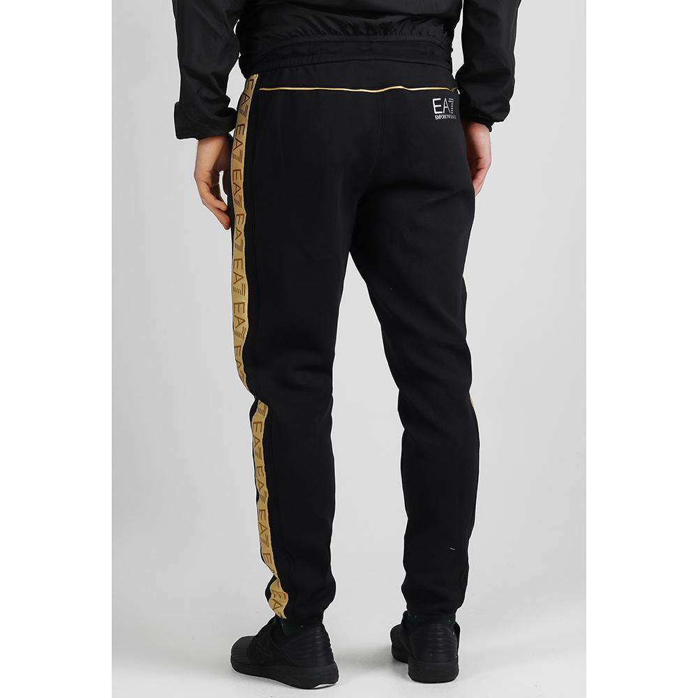 Спортивные брюки Ea7 Emporio Armani с золотистыми лампасами