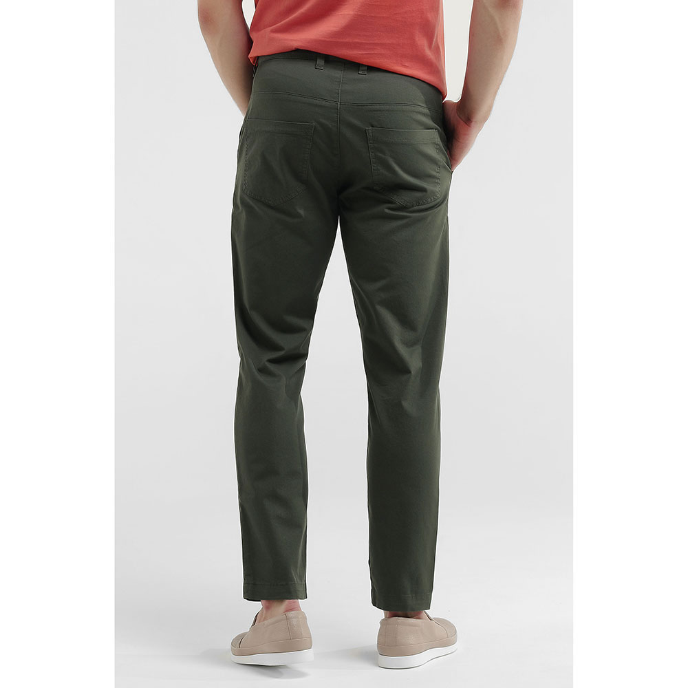 Зеленые брюки Eleventy с косыми карманами