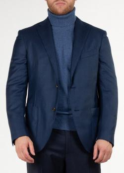 Пиджак из шерсти Luciano Barbera синего цвета, фото