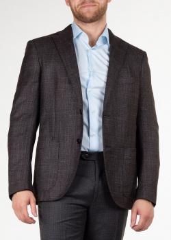 Меланжевый пиджак Luciano Barbera с накладными карманами, фото