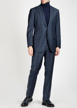 Шерстяной костюм Cesare Attolini в клетку, фото