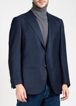 Темно-синий пиджак Kiton из шерсти, фото