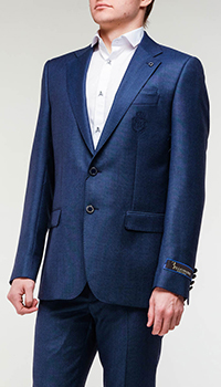 Синий пиджак Billionaire из шерсти, фото